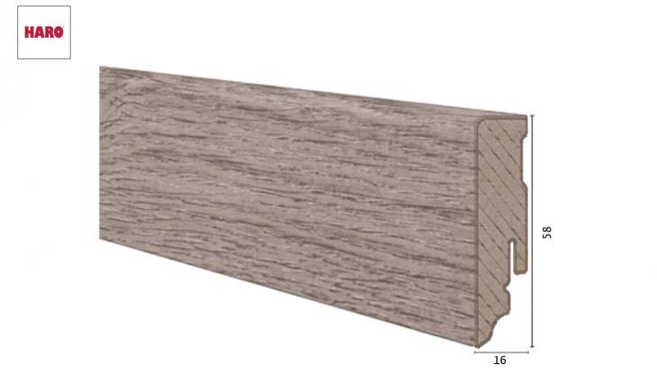 Laminuota grindjuostė Haro Ąžuolas Veneto Mocca 16*58 MM