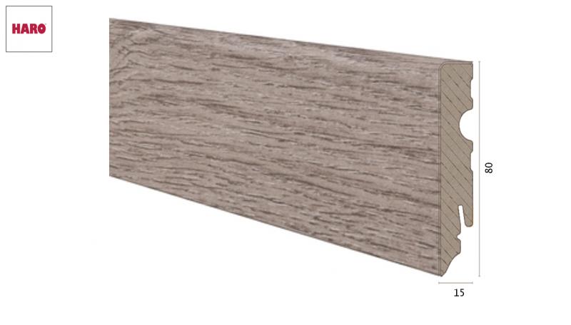 Medinė laminuota grindjuostė Haro Ąžuolas Veneto Mocca 15*80 MM