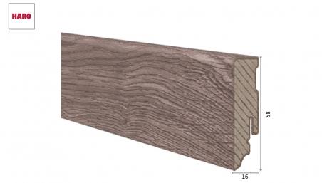 Laminuota grindjuostė Haro Ąžuolas Portland Grey 16*58 MM