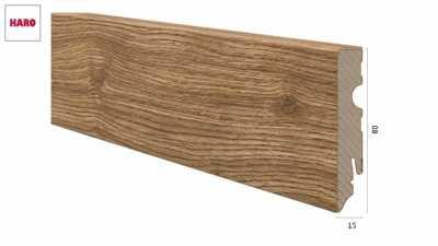 Medinė laminuota grindjuostė Haro Ąžuolas Portland Nature 15*80 MM