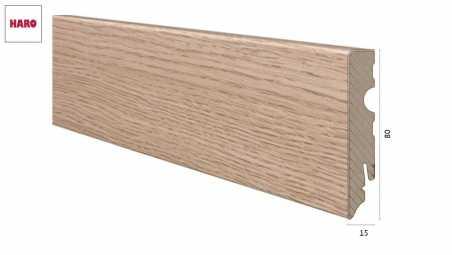 Medinė laminuota grindjuostė Haro Ąžuolas Portland Puro 15*80 MM