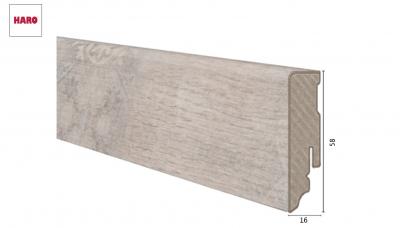 Laminuota grindjuostė Haro Stone Wood Creme 16*58 MM