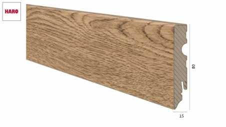 Medinė laminuota grindjuostė Haro Ąžuolas Terana 15*80 MM