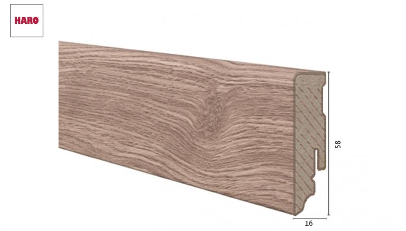 Laminuota grindjuostė Haro Ąžuolas Veneto Crema 16*58 MM