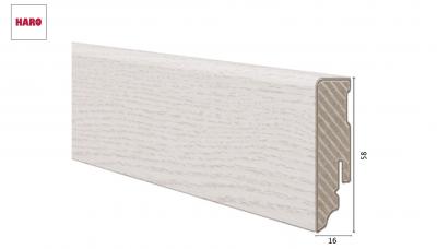 Laminuota grindjuostė Haro Chestnut Bianco 16*58 MM