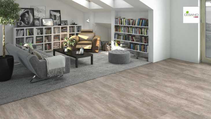 Design grindų danga Haro Disano Life Aqua Ąžuolas Antique Creme